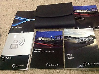 MERCEDES E CLASS Coupe & cabriolet OWNERS MANUAL HANDBOOK PACK 2014-2016 merc