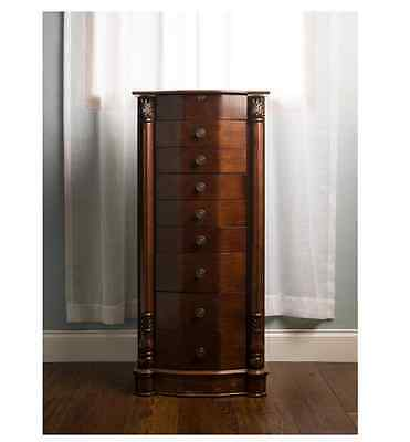 Jewelry Armoire Louis XVI Walnut Jewelry Armoire Stand Wood Organizer