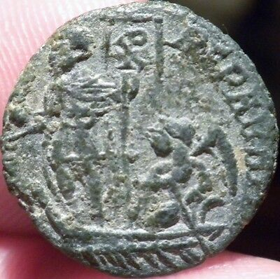 Constans Ae3 Happy Times Return Emperor In Galley With Victory And Chi Ro
