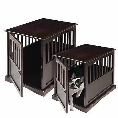 Dog Crates For Large Dogs Crate - Kennel End Table The Best Solid Wood Espresso