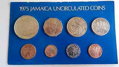 Jamaica 1975 Uncirculated Coin Set - One Cent to One Dollar coins