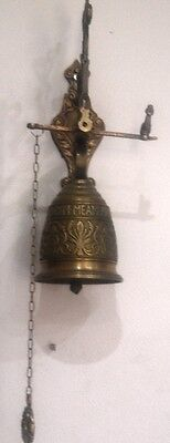 Collectable  Antique Bell Solid Brass Door/wall Bell  .