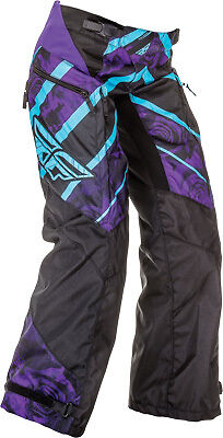 Fly Racing Womens Kinetic Overboot Motocross Dirt Bike Pant-See Size-Purple/Blue
