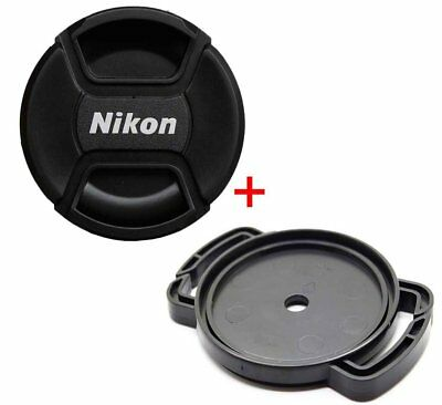 GIFT 67mm Front Lens Cap Snap-on Cover and lens cap holder buck for Nikon Camera