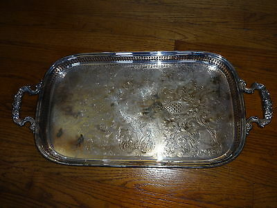 Gorham  Vintage Silver Plate Butler Tray with Handles