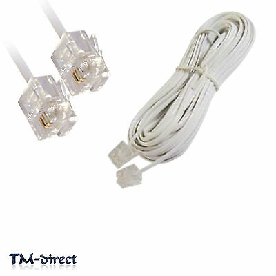 7M RJ11 White ADSL ADSL2+ High Speed Broadband Internet Modem Router Cable Lead