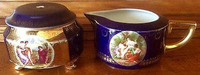 RARE Imperial PsL Pfeiffer & Lowenstein Creamer and Sugar with Lid. Gilt