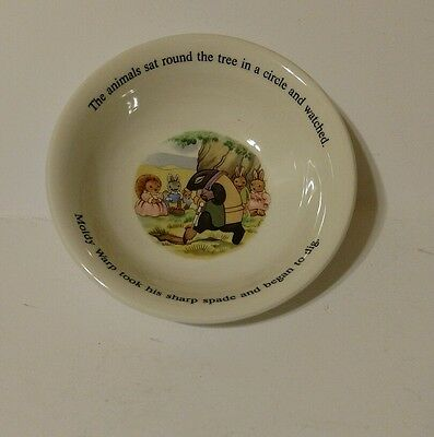 Little Grey Rabbit And Her Friends Childs Cereal Bowl 1985