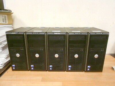 LOT OF 5 DELL OPTIPLEX 380 Core 2 Duo 2.93 GHz 320 GB HD DVDRW WORKING Free Ship