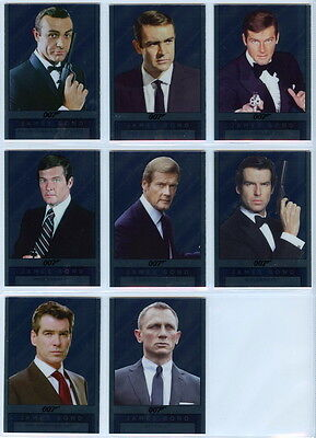 2016 James Bond Archives Spectre DOUBLE-SIDED MIRROR complete Set -8 plexi cards