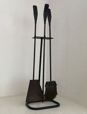 Luther Conover Fireplace Iron Tools Vintage Mid Century Modern Eames Era