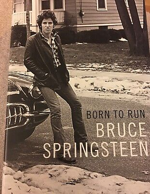 Bruce Springsteen Signed Book Born To Run