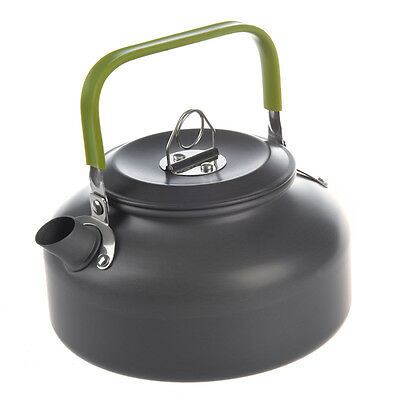 0.8L Portable Outdoor Hiking Camping Survival Water Kettle Teapot Coffee Pot ED