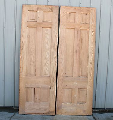 "2 Oak Raised Panel Heavy 1 7/8"" Thick X 90In Unfinished Architectural Door Doors"