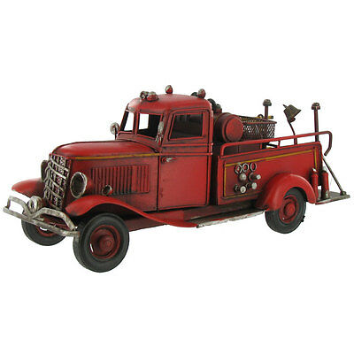 Red Metal Fire Truck - Fire Truck Model  Man Cave Perfect gift for firefighter