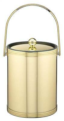 Ice Bucket with Metal Cover in Polished Brass Finish [ID 1700932]