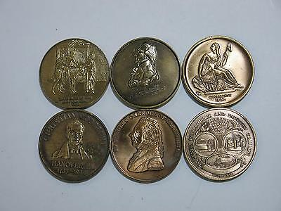 Hanover Pa Christian Gobrecht Commemortaive Bronze Medal Coin Type Lot Eagle W@w