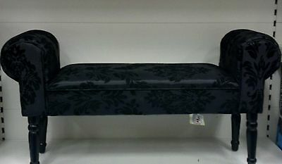 Window Seat Bench Velvet Sofa Chaise Longue Antique Retro Arm Chair Victorian