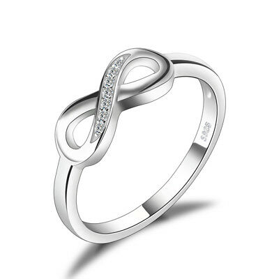 JewelryPalace Infinity Love Cubic Zirconia Ring 925 Sterling Silver Ladies