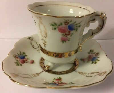 Vintage Demitasse Chocolate Cup and Saucer