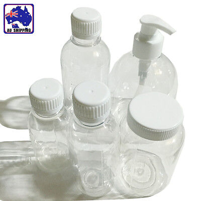 20x Transparent Plastic Bottle Liquid Soap Fluid 100 150 200 250 500ml HVPA369