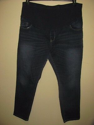 Old Navy Maternity Skinny Ful Panel Dark Wash Jeans Size 18