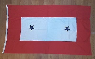 Antique Son Daughter Military 2 BLUE STAR SERVICE Flag Banner 3x5' WWII 1117-3