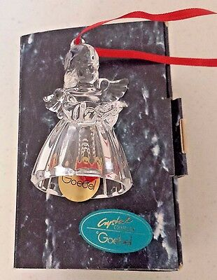 Goebel Crystal Collection Angel Bell Ornament NIB