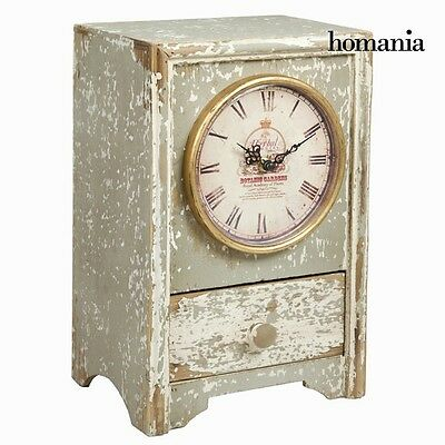 Antique Design Vintage Wooden Table Clock Retro Art Deco Time Meter By *HOMANIA*