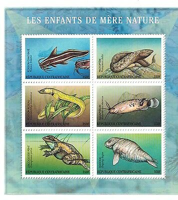 Central African Republic - Marine Life, Fish, 2001 - Sc 1390 M/S MNH
