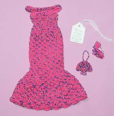 """Mardi Gras Outfit By Dusty Made To Fit 10"""" Tiny Kitty 2005 Convention"""