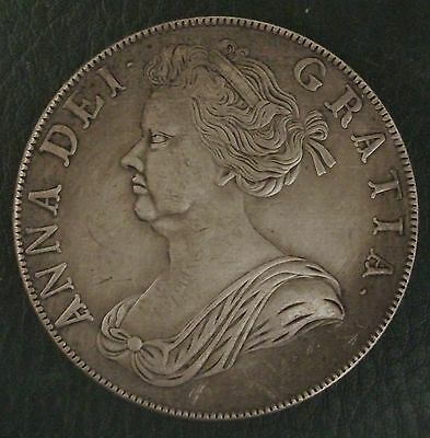 1706 Anne Crown, Copy, (FREE UK POSTAGE AVAILABLE), Same size & Weight