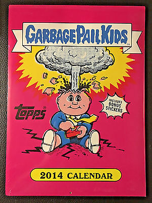 GARBAGE PAIL KIDS 2013 CALENDAR NEW/SEALED w/ADAM BOMB & OTHERS +4X BONUS CARDS!