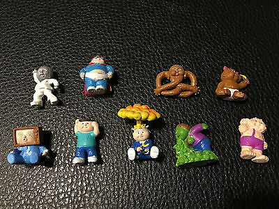 Garbage Pail Kids Minikins Painted Toy Figures Lot Of 9! Adam Bomb Clark Can't +