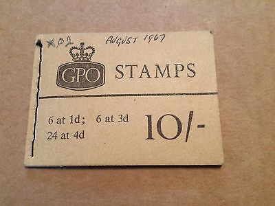 GB 1967 X16p 10/- Stitched Stamp Booklet (AUG 1967)