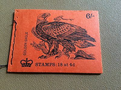 """GB 1970 QP54 6/- Birds Series """"Golden Eagle"""" Stitched Stamp Booklet (AUG 1970)"""
