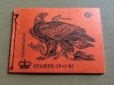 """GB 1970 QP55 6/- Birds Series """"Golden Eagle"""" Stitched Stamp Booklet (OCT 1970)"""