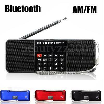 Bluetooth Portable LCD FM/AM Radio Stereo Music Mini Speaker MP3 Player AUX USB