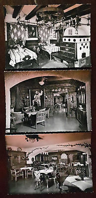 Hotel Brau Lofer Austria, Real Photograph Unposted Postcards x 3,