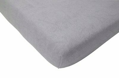 Jollein 550_0072 Fitted Sheet Terry Cloth (60 x 120 cm, Grey)