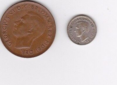 2x George VI coins from Australia