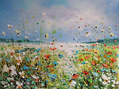 """Acrylic Oil  Painting On  Canvas """" Wildflowers"""""""