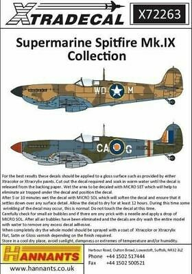 Xtradecal X72263 1/72 Supermarine Spitfire Mk.IX Collection Model Decals