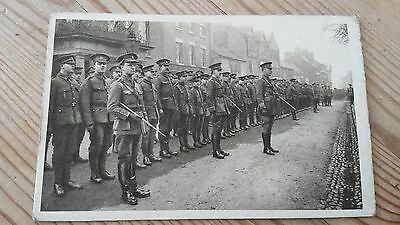 Ww1 Postcard The 3Rd Second Monmouth At Oswestry Welsh Troops See Picture