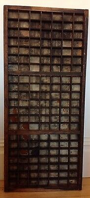 Vintage G.Palister Of Leeds old wooden printers block drawer / tray 83 x 37cm