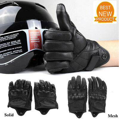 Motorcycle Bike Racing Riding Protective Armor Short Leather Winter Warm Gloves