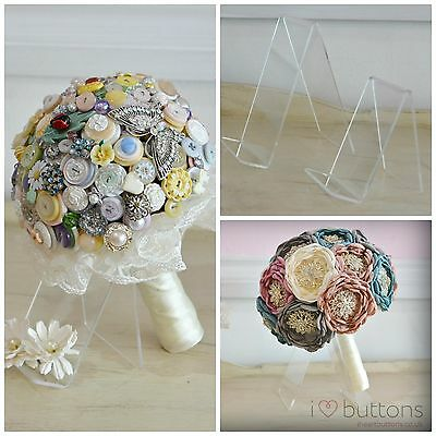 Flowers / Brooch / Button Bouquet Stand-Protect your Bouquet on your Wedding Day