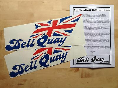 DELL QUAY DORY Hull Stickers (pair)