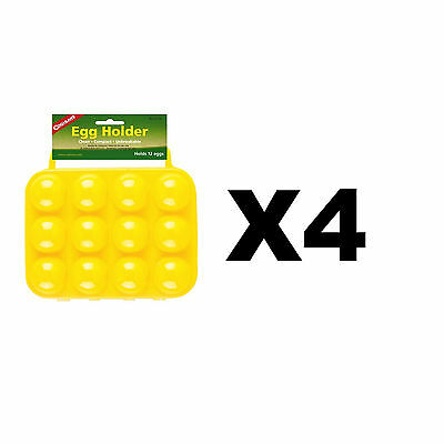 Coghlan's 12 Egg Holder Yellow Hard-Plastic Carrier w/Handles Compact (4-Pack)