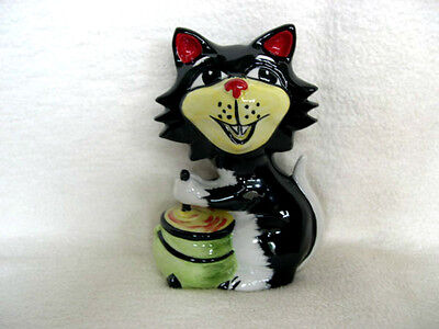 Lorna Bailey Halloween Witch Cat With Cauldron Signed Collectors Piece Rare